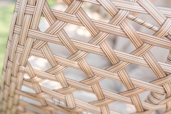 новое плетение на коконе из ротанга