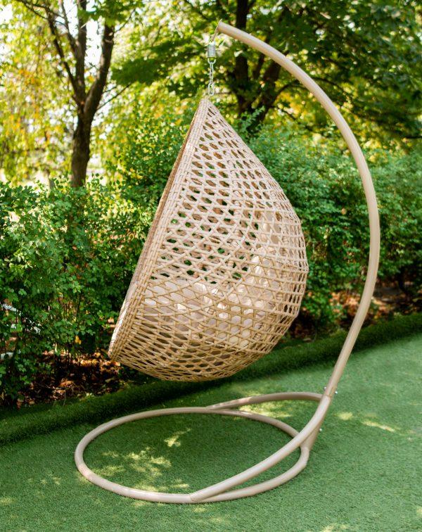 крісло кокон плетене ротангом Асоль єко ЮМК
