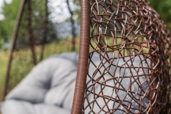 ротанг шоколад на подвесном кресле