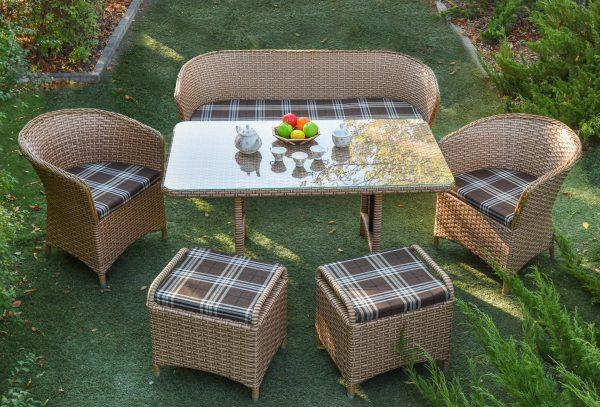 Каччественные комплекты мебели из ротанга