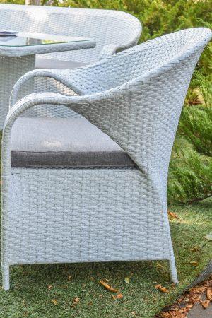 Плетёное кресло для кухни и сада серое