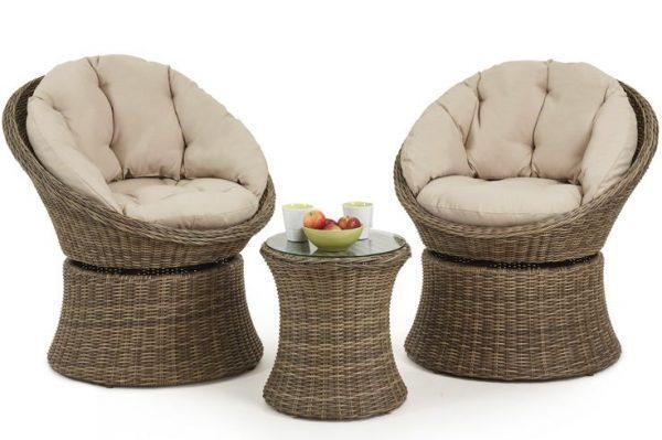 комплект мебели поворотной из ротанга ЮМК
