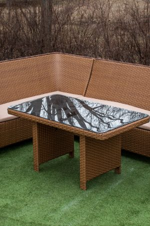 плетёная мебель для дачи