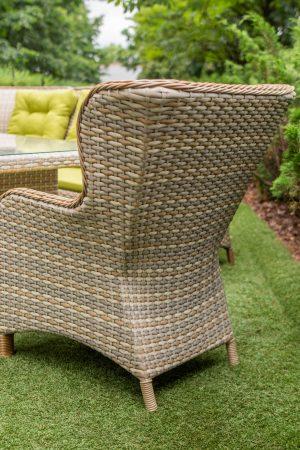 плетёное кресло в стиле прованс из искусственного ротанга