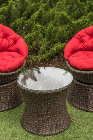 Комплект садовой мебели Сфера рошен с красным