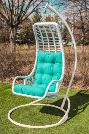 кресло подвесной гамак с ровной высокой спинкой