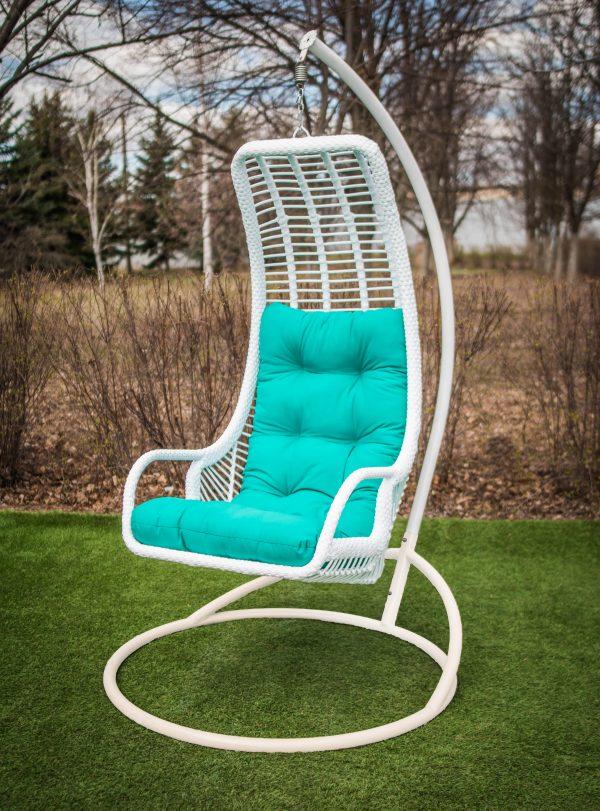 кресло гамак Лиго белое на стойке