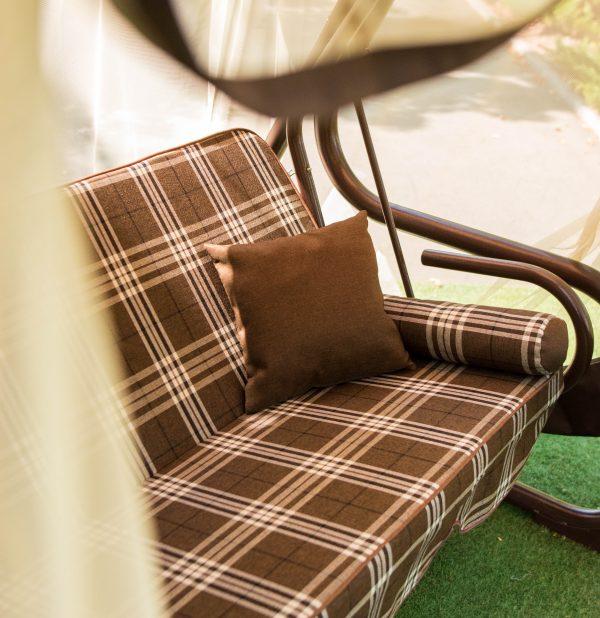 качели для улицы с мягким поролоновым сиденьем