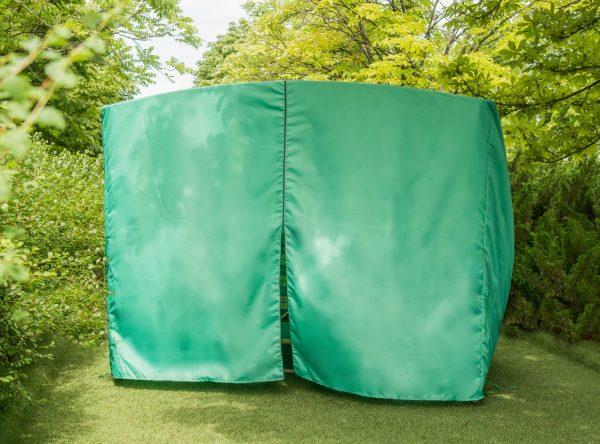 зелёный чехол на садовые качели