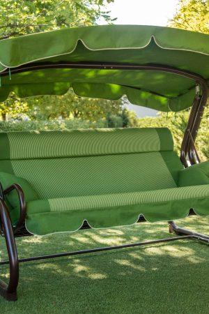 Качели для сада Корса ЮМК зелёные