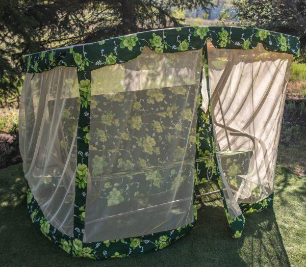 качели для двора с москитной сеткой