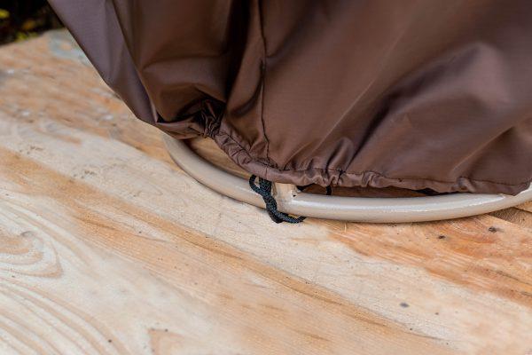 Низ чехла для кресла мамасан с затяжкой
