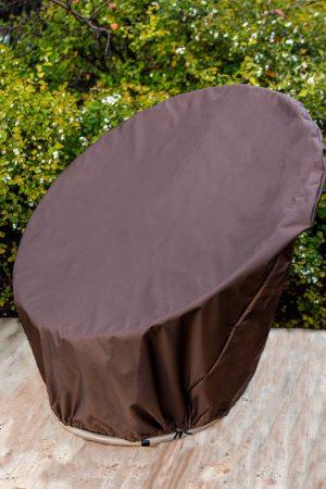 коричневый чехол для кресла папасан