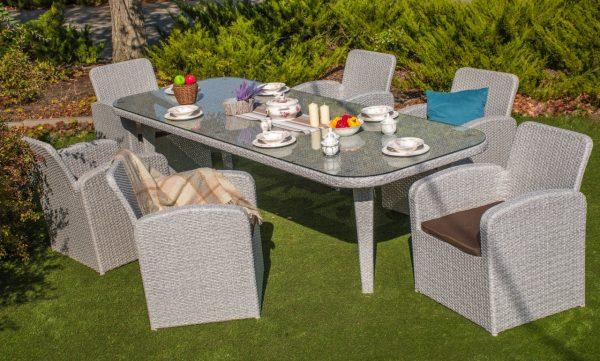 Плетёный стол из ротанга с креслами