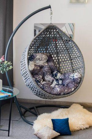 Арт Вуд кресло кокон с подушкой с рисунками