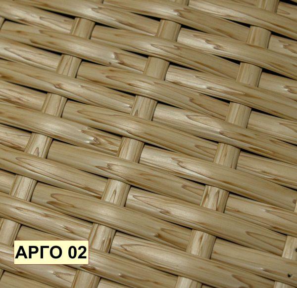 Бежевое плетение на подвесном кресле Арго 02