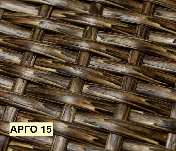 Коричневое плетение на подвесном кресле Арго 15