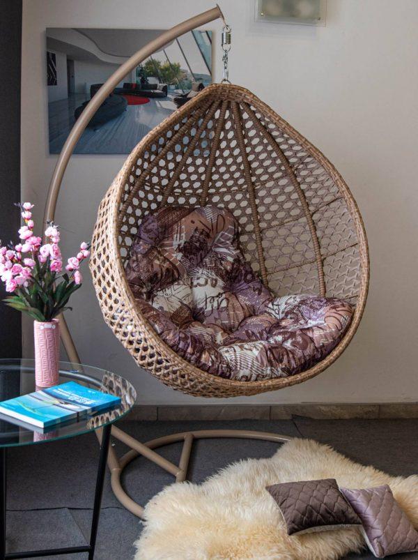 Арт Вуд подвесное кресло с цветной подушкой