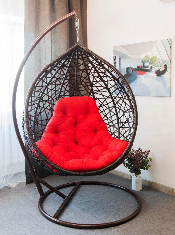 подвесное кресло Арт вуд кокон из ротанга