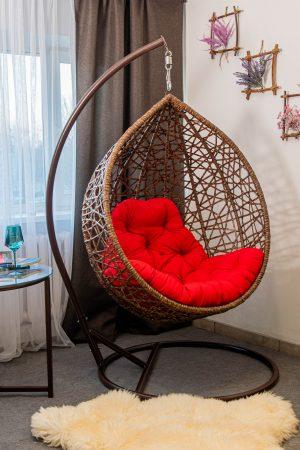 Подвесное кресло в квартиру Арт вуд