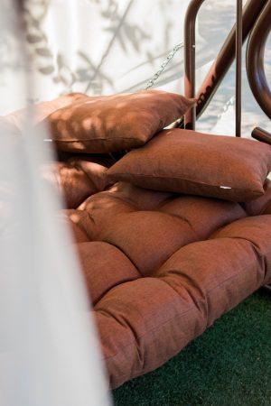 мягкое сиденье на садовой качеле Этно