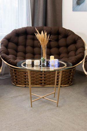 комплект мебели из металла папасан люкс