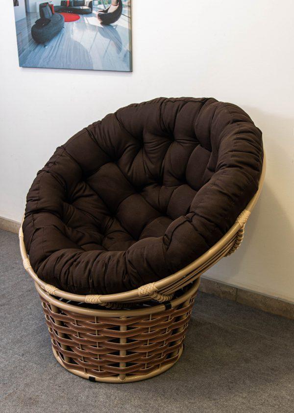 кресло кокон папасан беж люкс