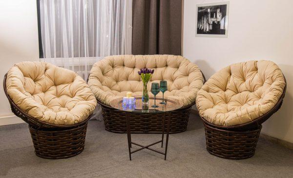 Премиум комплект мебели Фемели люкс искусственный ротанг