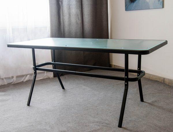 металический стол столешница стекло