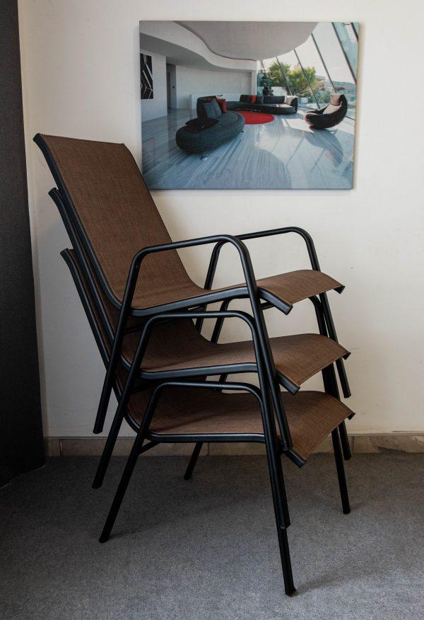 стулья из металла и ткани