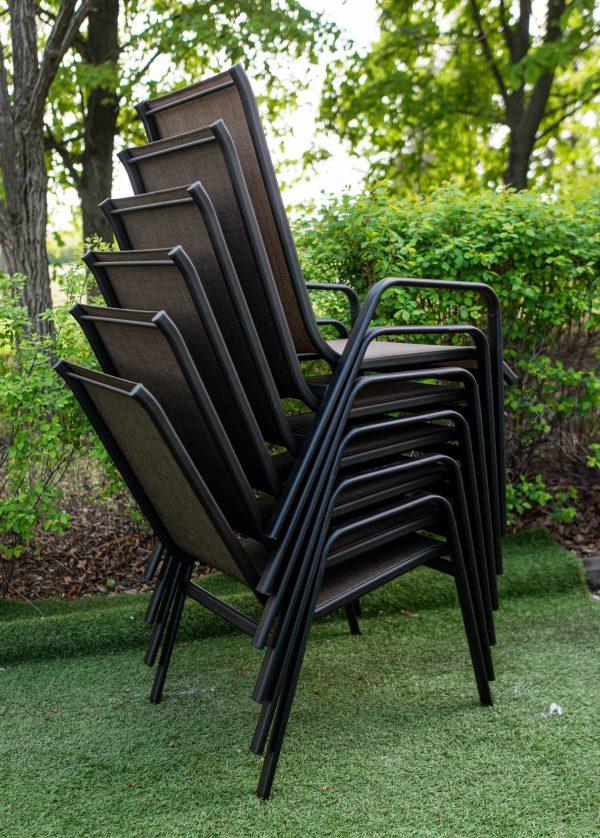 стулья текстиленовые из металла для летнего кафе