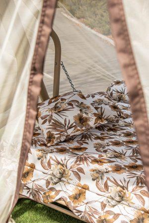 раскладка садовой качели с сеткой