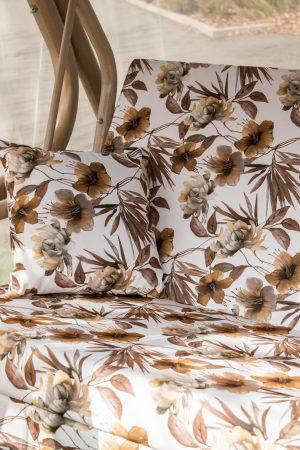 Ткань для качели в крупный цветок