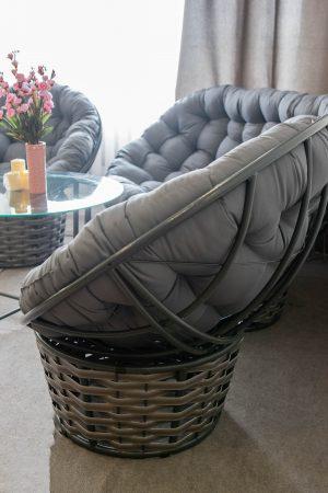 крісло папасан альфа металеве