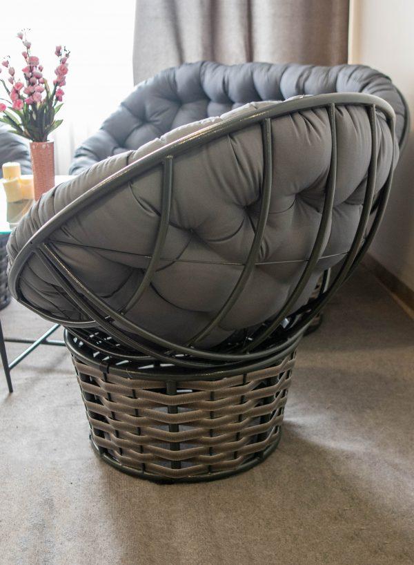 папасан крісло з ротангу на металевому каркасі