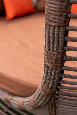 качество плетения на садовой беседке