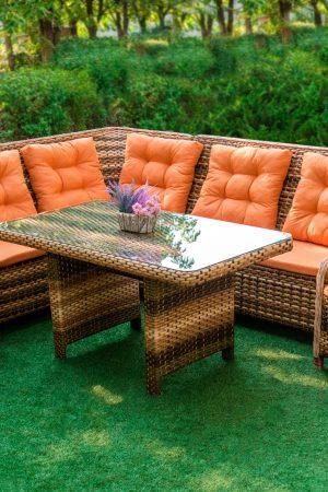 мебель для улицы Грегори с мягкими подушками