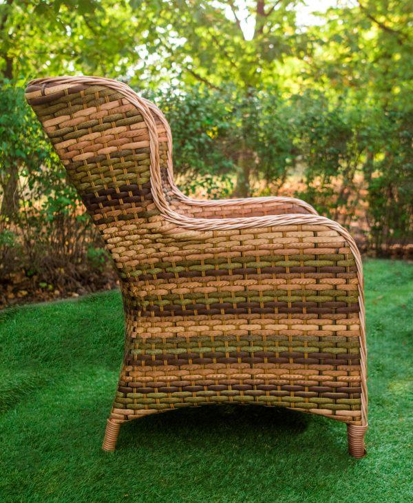 Кресло Меланж плетёное ротангом