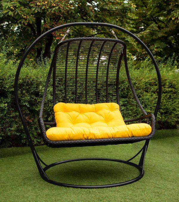 кресло двойное из искусственного ротанга