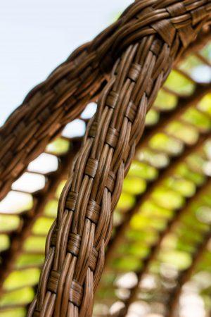 плетение по переднему ободу кресла кокона