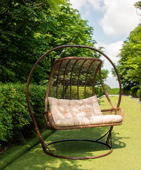 Кресло кокон на круглой арочной стойке
