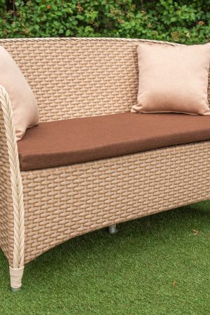 диван из эко ротанга плетение арго омега 02