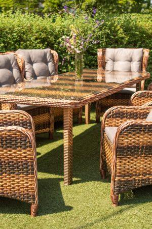 большой комплект садовой мебели из искусственного ротанга