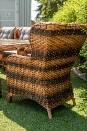 кресло классическое плетёное ротангом