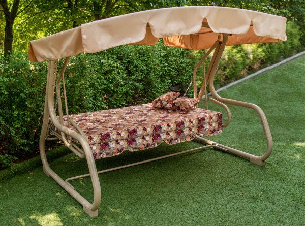 Качели для сада раскладные в кровать