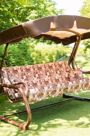 Надёжные садовые раскладные качели из метала