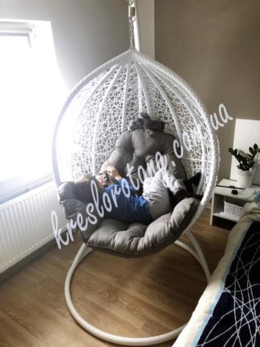 кресло подвесное белая Веста в дом