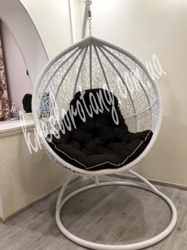 Подвесное кресло Веста подушка коричневая