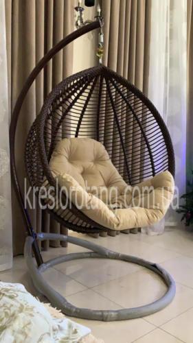 Подвесное кресло Кит горизонтальное плетение